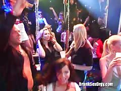 Crazy oral and vaginal sex at a crazy party with the drunk babes