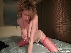 Delia De Lions Ass Toying Spurting Cum