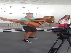 Anastasia Giousef showing some moves